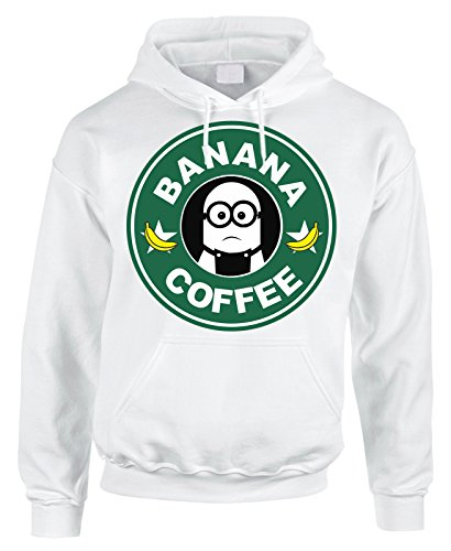 Felpa con cappuccio simpatica minion stile star b Banana coffee - in cotone by Fashwork