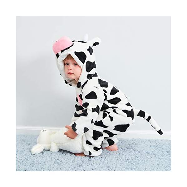 Pijama para Bebé Niña Niño Franela Bolsa Saco de Dormir de Mangas Largas Espesar Mameluco con Capucha Peleles algodón… 2