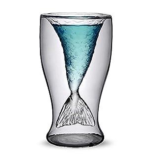 ANKKO Mermaid Beer Mug Creative Whiskey Wine Glassware Mug Cup