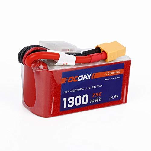 Detectoy-OCDAY-148V-1300mAh-75C-Lipo-Battery-con-XT60-Plug-OCDAY-148V-1300mAh-75C-Lipo-Battery-XT60-Plug-per-150-280-Raing-Quacopter