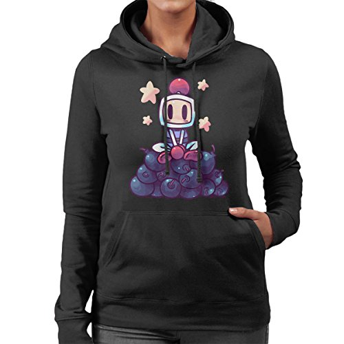 The Bomberboii Is Back Bomberman Women's Hooded Sweatshirt Black