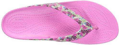 Crocs Kadeeiilprdflp, Ciabatte Donna Rosa (Pink/Floral)