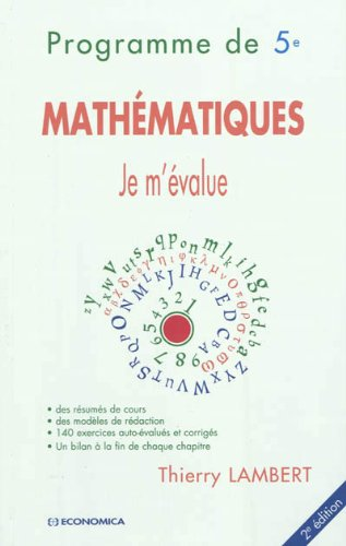 Programme de 5e - Mathématiques - Je m'évalue