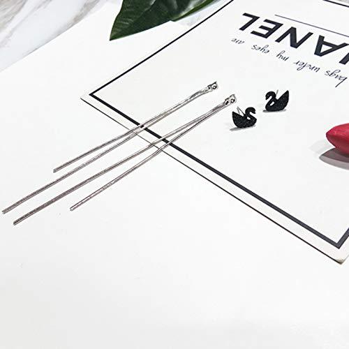 Spenbroke Functional Black Swan Gestüt Ohrring für Frauen hängende Kette Langen Ohrschmuck EIN Paar ziemlich klassisch nickelfreie Mode Schmuck(None - Spencers Geschenke Kostüm