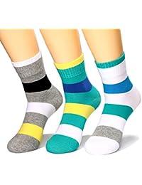 HZHY Calcetines Hombres,Algodón Peinado,Calcetines de Rayas Cómodos de Colores,Calcetines de