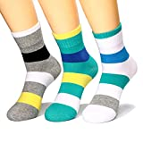 HZHY Calcetines Hombres,Algodón Peinado,Calcetines de Rayas Cómodos de Colores,Calcetines Cortos Transpirables,3/6 Pares (EU 39-44, 6 pares/color 2)