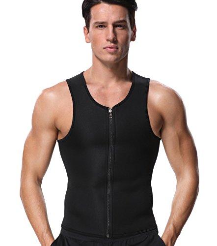 MISS MOLY Herren Sauna Weste Shirt Abnehmen Hot Top Shaper Neopren Unterhemd Shapewear Für Slimming Training