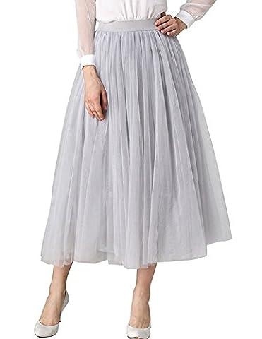 Jupe Crepon - QincLing Femmes Haute taille élastique plissé Tutu