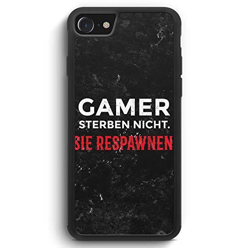 Gamer Sterben Nicht - Sie Respawnen - Silikon Hülle für iPhone 6 / 6s - Motiv Design Spruch Jungs Männer Cool Lustig Witzig - Cover Handyhülle Schutzhülle Case Schale Cool Silikon