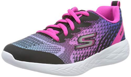 Skechers Girls' GO Run 600-BRIGHT Sprints Trainers, Black Black & Multi Mesh/Trim Bkmt, 10.5 28 EU...