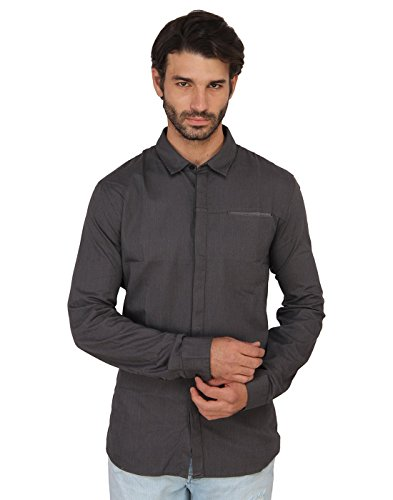 Calvin Klein Men's Casual Shirt (701549167192_J301979_X-Large_Grey)  available at amazon for Rs.3249