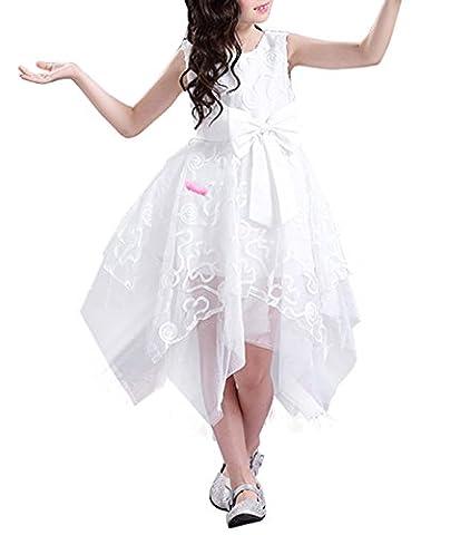 Blumenmädchenkleid Hochzeitskleid Kindergeburtstags Party KleidWeiß100
