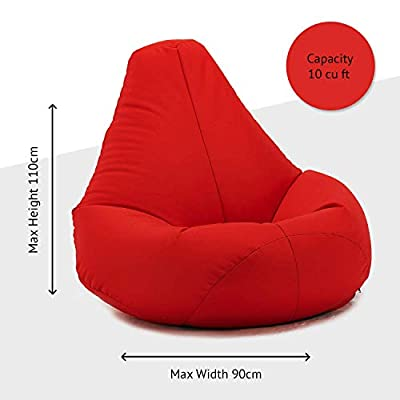 XX-L Highback Beanbag Chair Water resistant Bean bags for indoor and Outdoor Use, Great for Gaming chair and Garden Chair
