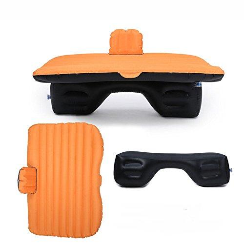 Auto Aufblasbare Matratze Auto Stoßdämpfer Matratze Oxford Aufblasbare Matratze Tragbare Outdoor Drehbank Kind Schutz Datei,Orange