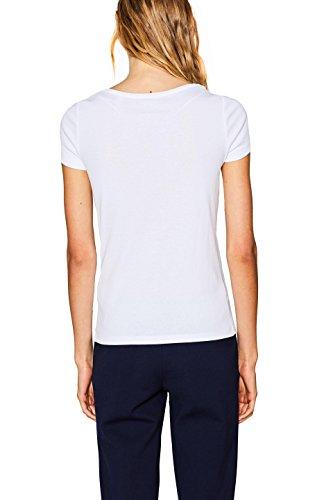 ESPRIT Damen T-Shirt Weiß (White 100)