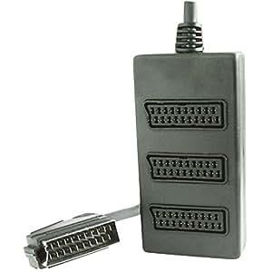 Adaptateur Y SpeaKa Professional 50314 [1x connecteur péritel mâle <=> 3x connecteur péritel femelle] 0.20 m noir