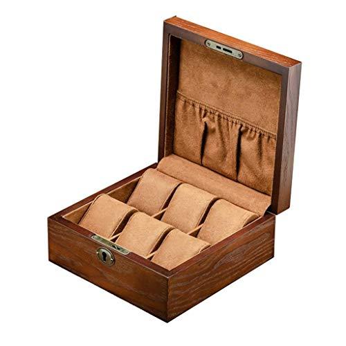 LOKKR männer/Frauen Uhr Holz Aufbewahrungsbox Große 6 Standard Kissenbezug Uhr Lagerung Schmuckschatulle Mit Schloss Display Schmuck Sammlung/Dekoration -