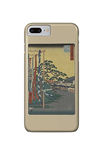 The Shops of the Famous Arimatsu Tie-Dye Fabrics - Masterpiece Classic - Artist: Hiroshige c. 1855 (iPhone 7 Plus Cell Phone Case, Slim Barely There)