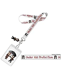"Doctor Who Lanyard ""Under His Protection"" with 3D Matt Smith Charm"