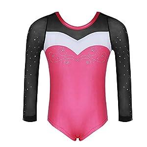 Molliya Mädchen Gymnastikanzug Trikot Bunter Bedruckter Lange ärmel Tank Gymnastikanzug für Gymnastik Tanzen Costume 4-10 Jahre