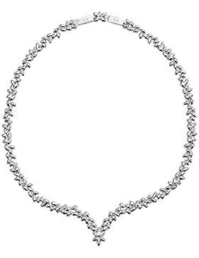 Swarovski Damen-Collier Diapason All-around V rhodiniert Kristall transparent 40 cm - 5184273