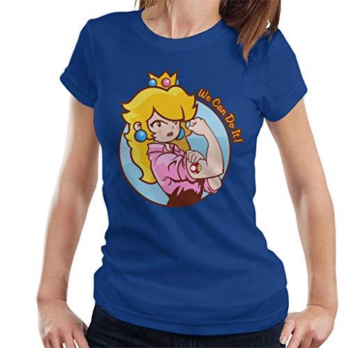 Super Mario Princess Peach We Can Do It Women's T-Shirt