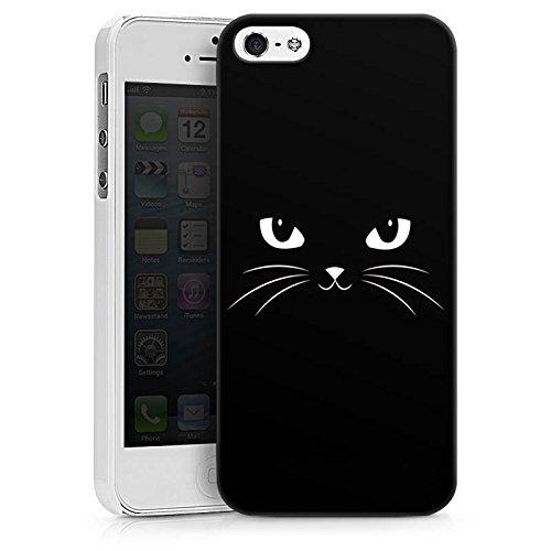 Apple iPhone X Silikon Hülle Case Schutzhülle Black Cat Katze Kater Hard Case weiß