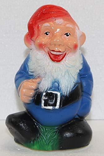 Gartenzwerg Deko Garten Figur Zwerg lachend mit Bewegungsmelder Ha-Ha aus Kunststoff Höhe 20 cm