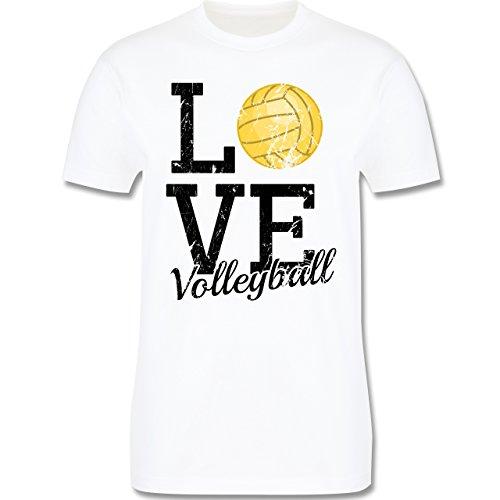 Volleyball - Love Volleyball - Herren Premium T-Shirt Weiß