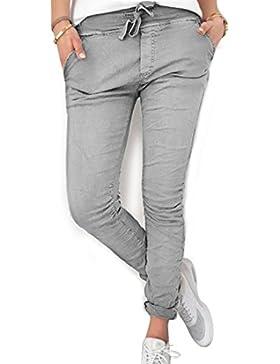 Inlefen Pantalones largos para mujeres damas - Pantalones ajustados cómodos en cintura elástica de moda Pantalones...