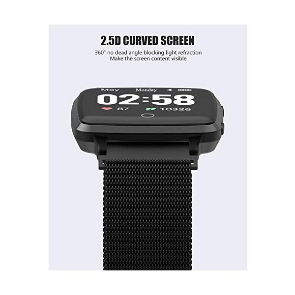 Reloj SAMA Fitness Trackers,Monitor de Frecuencia Cardíaca IP67,Rastreador de Actividad a Prueba de Agua,Reloj de… 9