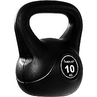 MOVIT Kettlebell Kugelhantel mit bodenschonender Kunststoffummantelung, Kugelgewicht in 15 VARIANTEN: 1 kg bis 24 kg Schwunghantel