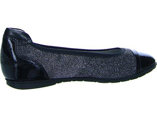 Tamaris Damen 22109 Geschlossene Ballerinas Schwarz (Black Comb)