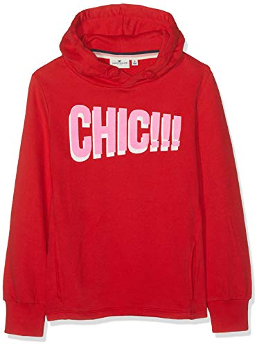 TOM TAILOR Kids Mädchen Sweatshirt Placed Print, Rot (Chinese Red 2000) 140 -