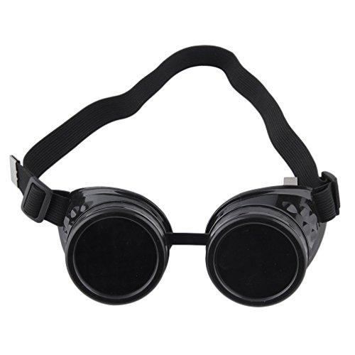 ulable Steampunk Cyber-Schweißerbrille, Gläser Vintage Retro Schweißen Punk Gothic viktorianischen -