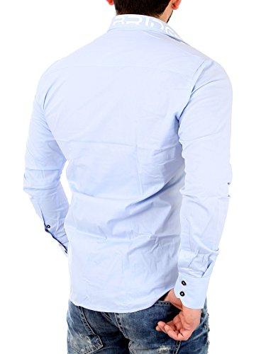 Redbridge Herren Regular Fit Freizeithemd R-2131 Hellblau