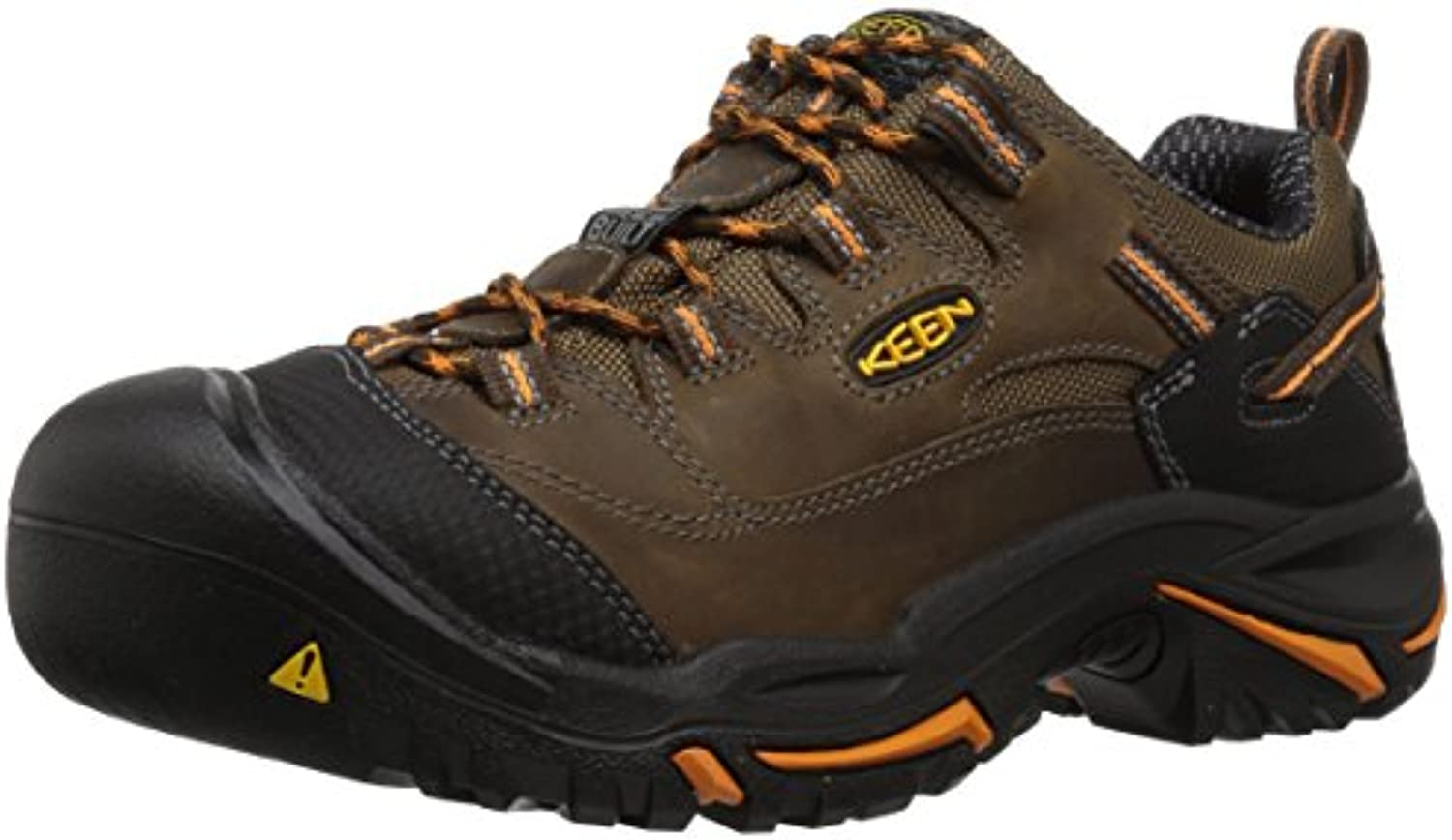 Keen Utility Men's Braddock Low Soft Toe Work Boot  Cascade/Orange Ochre  9 2E US