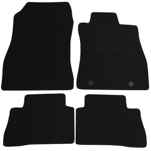 Preisvergleich Produktbild JVL Nissan Juke 2010-present Auto zugeschnitten Badematten-Set mit 2Clips–Schwarz