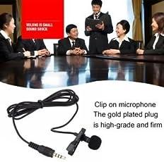 SLB Works Brand New Mini Lavalier Mic Tie Clip Microphones Smart Phone Recording Speaking Singing EW