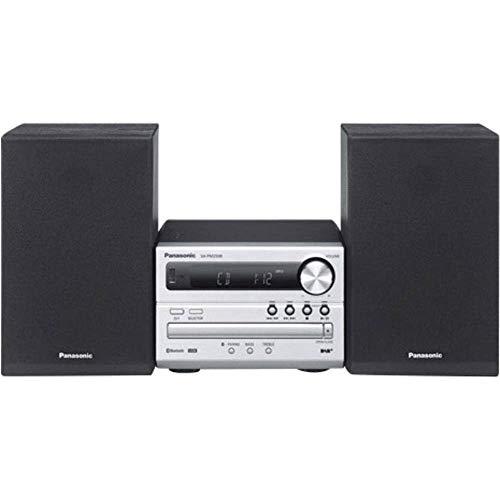 Panasonic SC-PM250BEG-S Sistema Micro, DAB+, CD, MP3, Radio RDS, USB, Bluetooth, 20 Watt RMS, Silver