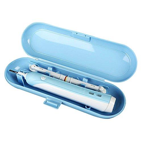 Amaoma custodia spazzolino da viaggio per spazzolino elettrico, scatola porta spazzole per spazzolino porta spazzolino testa per braun oral b, antipolvere impermeabile antigraffio, blu