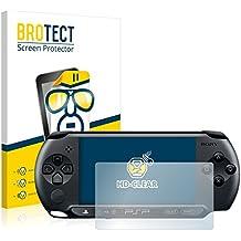 2x BROTECT HD-Clear Protector Pantalla Sony PSP 1004 Película Protectora – Transparente, Anti-Huellas