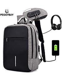 BANQLYN Fashion Multifunctional USB Charging Anti Thief Laptop Backpack  (Colour May Vary) 45304adedb779