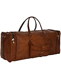 Original Leather Gym Bag, Travel Duffel Bags For Men/Women/Girls/men Craft 47 By NeoFeral