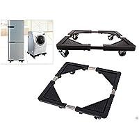 Takestop® Base with Wheels Multifunction Universal Stand for Household Appliances Fridge Washing Machine Water Dispenser