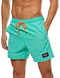 Minetom Hombre Bañadores De Natación Pantalones Cortos Bermudas Shorts Cintura Elástica Verano Sport Moda Surf Calzoncillos…