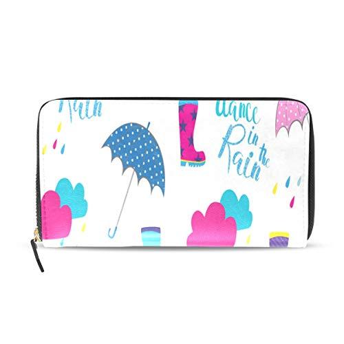 Ombrello clolrful design modello lungo passaporto frizione borse portamonete con cerniera portafoglio borsa denaro organizzatore borsa porta carte credito per lady donna ragazza uomo regalo viaggio