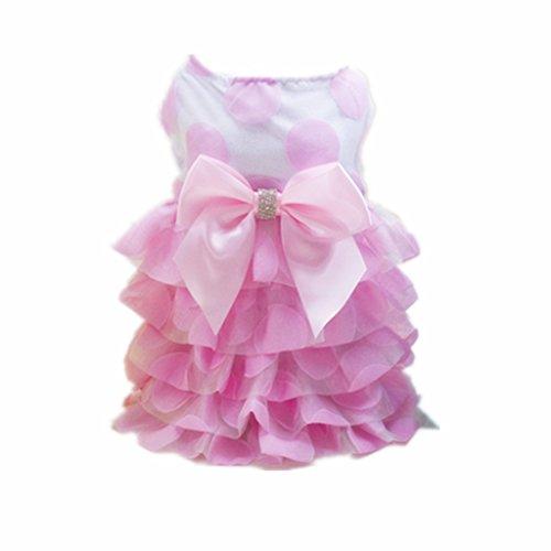 n Stil Mode Hund Katze Hundekleid Brautkleid Kleid Party Kostüm aus Organza - Rosa (Moderne Familie Katze Kostüm)