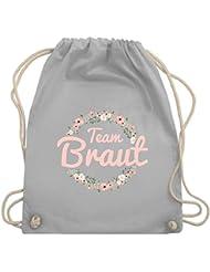 58b62a785f6fe JGA Junggesellinnenabschied - Team Braut Blumenkranz rosa - Turnbeutel    Gym Bag