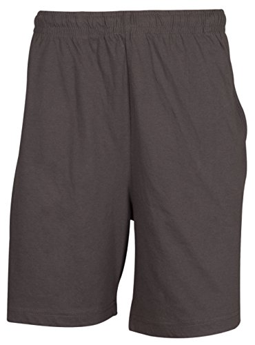 Maglia da uomo pantaloncini elastico con coulisse rotondo e tasca posteriore–�?35 Charcoal